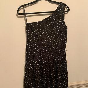 WHITE HOUSE BLACK MARKET - black & white dot dress